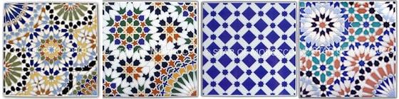Marokańskie płytki dekoracyjne