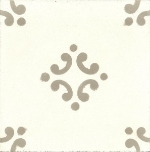 Hiszpańskie płytki na podłogę - W kolorze białym