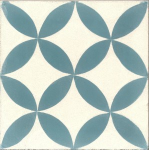 Tradycyjne hiszpańskie płytki podłogowe wykonane z cementu