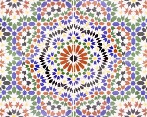 Arabskie kafle dekoracyjne