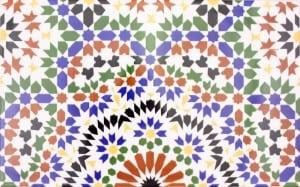Arabskie płytki z Maroko