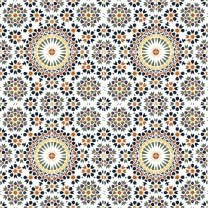 Orientalne marokańskie płytki