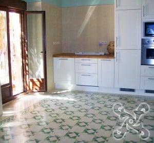 Mozaikowe płytki podłogowe