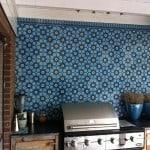 Inspirujące kafle cementowe na ścianie - Oryginalne pomieszczenie z kaflami ściennymi