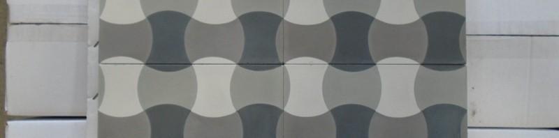 Tradycyjne polskie wzory gorsecików na płytkach cementowych