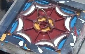 Płytki cementowe - wlew farb