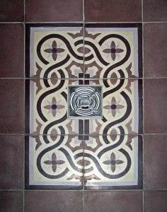 Płytki cementowe Kolory Maroka - aranżacja prysznic