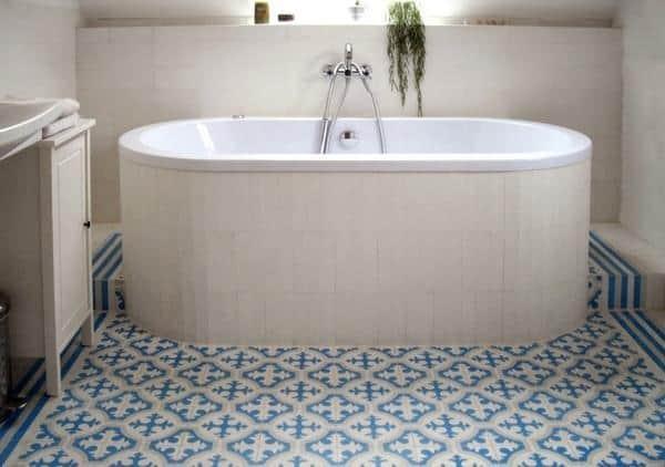 Płytki Cementowe Kolory Maroka Aranżacja W łazience