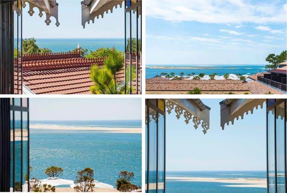 Widok z okien hotelu La Cornische