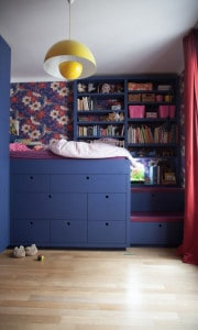 Anais Olmer, sypialnia w głębokich kolorach