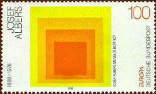 Znaczek pocztowy z okazji 50 rocznicy Bauhausu, RFN, 1983.