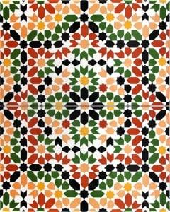 MITRATA, płytka ceramiczna z Kolorów Maroka