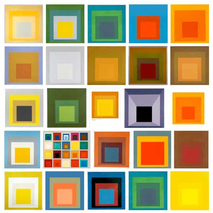 """Josef Albers, cykl """"W hołdzie kwadratowi"""""""