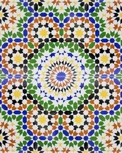 BILAL, płytka ceramiczna z Kolorów Maroka
