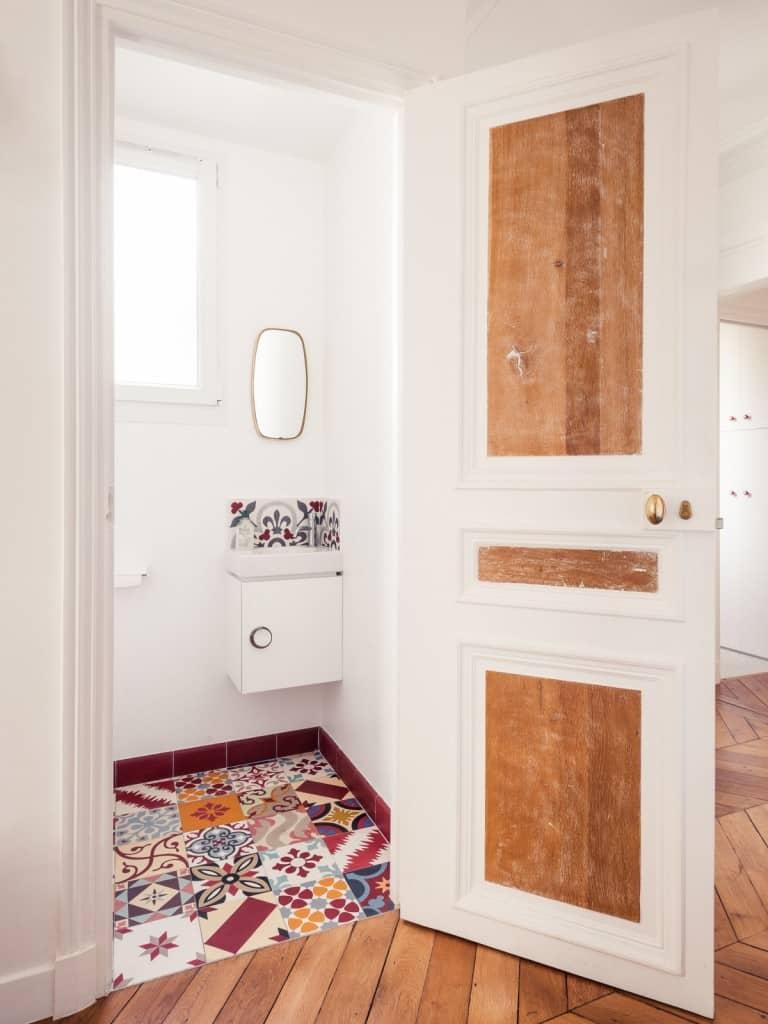 Marion Alberge apartament przy rue des martyrs, paryż, 180 m2, arch. marion alberge