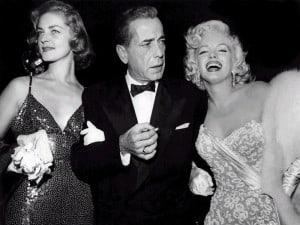 Lauren Bacall, Humphrey Bogart oraz Marylin Monroe