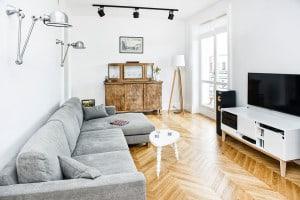 Salon na Powiślu zaprojektowany przez EG Projekt