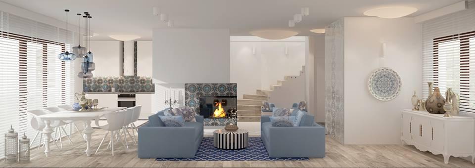 MALCOLM, płytki cementowe ze sklepu Kolory Maroka, w projekcie Agnieszki Ludwinowskiej z pracowni Ludwinowska Studio Architektury