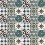 Patchwork z płytek cementowych dostępnych od ręki w sklepie Kolory Maroka