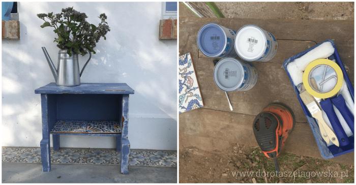 Ganek domu Doroty Szelągowskiej na Warmii, wyłożony płytkami cementowymi PEREZ ze sklepu Kolory Maroka