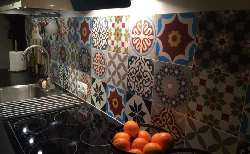 Patchwork jako ozdoba wąskiej kuchni